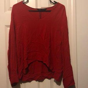 Nwot Zara red blouse